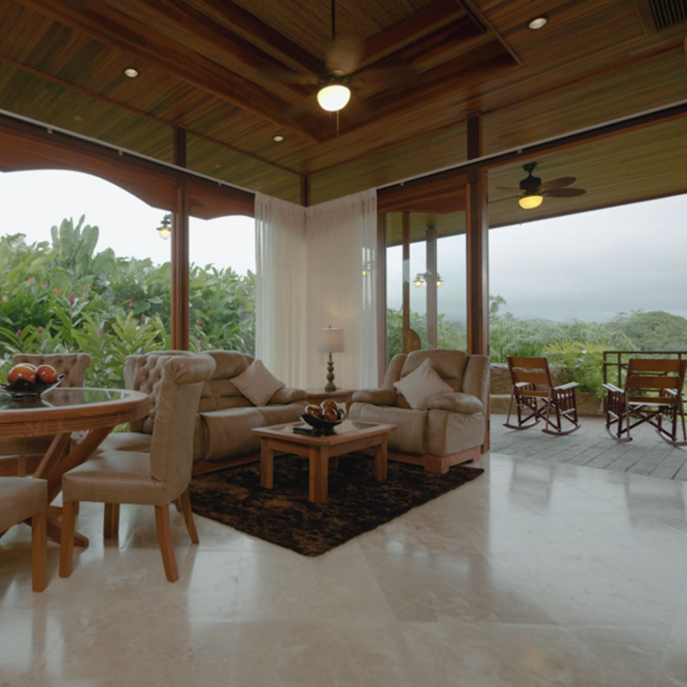 Arenal Hills Villa Fleta Second Story Living Room