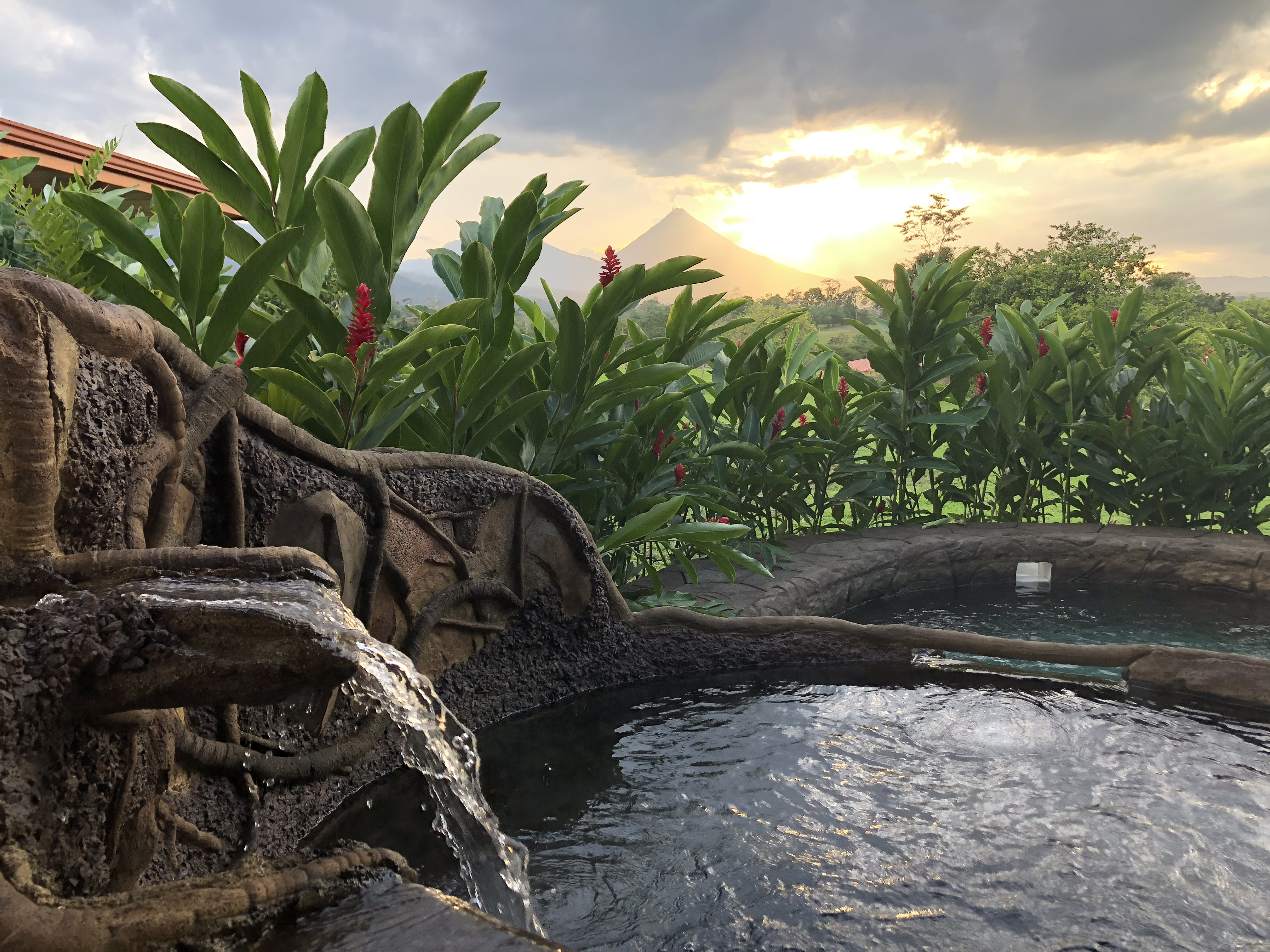 Arenal Hills View of Arenal Volcano from Villa Pool