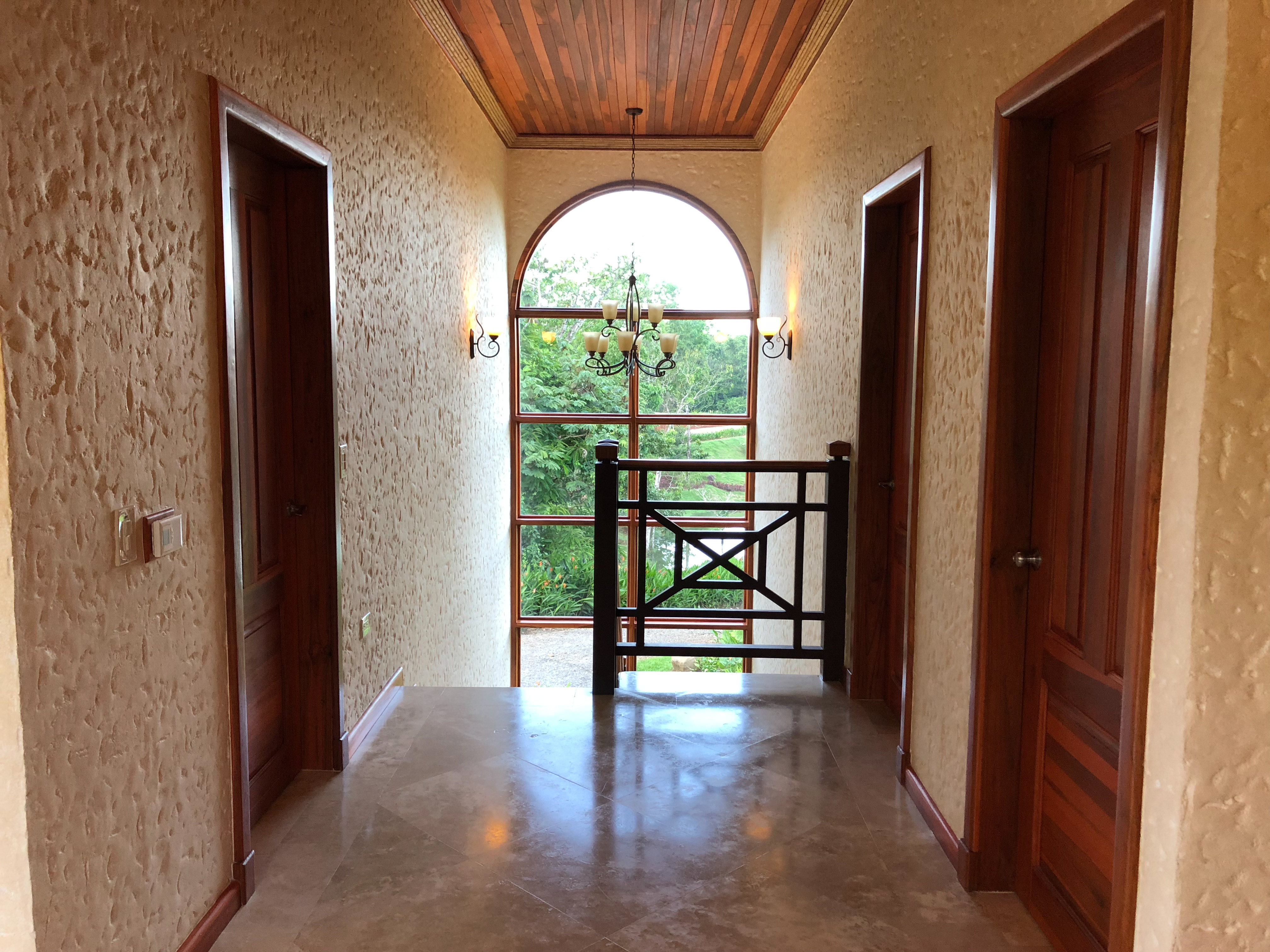 Arenal Hills Villa Fleta Second Story Stair View of Landscape